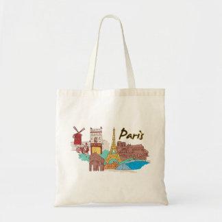 Paris, France Famous City Tote Bag