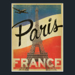 "Paris, France - Flag Postcard<br><div class=""desc"">Anderson Design Group is an award-winning illustration and design firm in Nashville,  Tennessee. Founder Joel Anderson directs a team of talented artists to create original poster art that looks like classic vintage advertising prints from the 1920s to the 1960s.</div>"