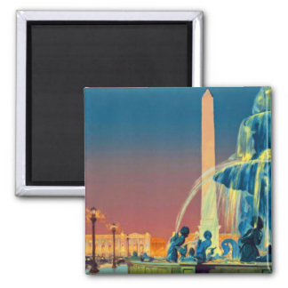 Paris France Fountain Obelisk Magnet