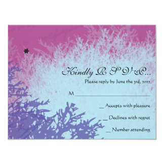 PARIS FRANCE FRENCH Bar Bat Mitzvah Reply Card Announcement