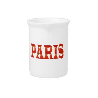 PARIS, FRANCE :  French, Fashion, Travel,Food,Cine Beverage Pitcher