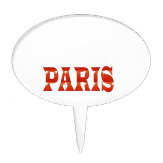 PARIS, FRANCE :  French, Fashion, Travel,Food,Cine Cake Topper