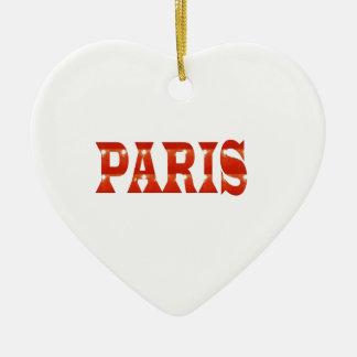 PARIS, FRANCE :  French, Fashion, Travel,Food,Cine Ceramic Ornament