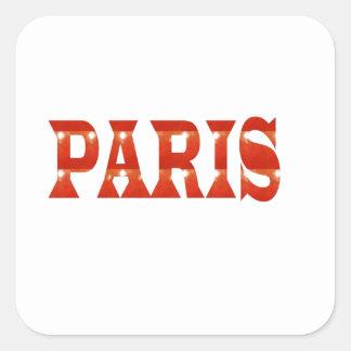 PARIS, FRANCE :  French, Fashion, Travel,Food,Cine Square Sticker