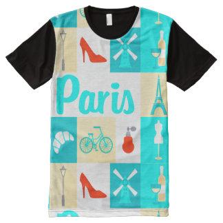 paris france french icons tshirt