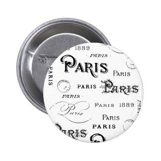 Paris France Gifts and Souvenirs Button