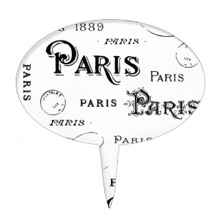 Paris France Gifts and Souvenirs Cake Topper