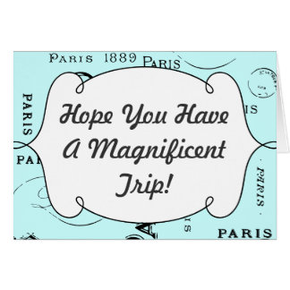 Paris France Gifts and Souvenirs Card