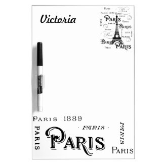 Paris France Gifts and Souvenirs Dry Erase Board