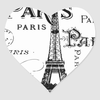 Paris France Gifts and Souvenirs Heart Sticker