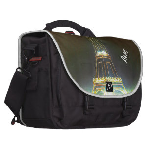 Paris France Gifts and Souvenirs Laptop Messenger Bag