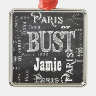 Paris France Gifts and Souvenirs Metal Ornament