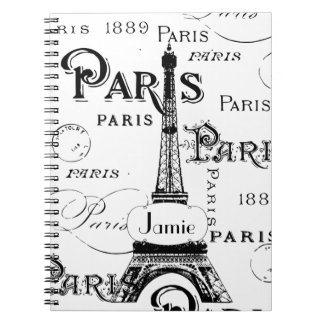 Paris France Gifts and Souvenirs Notebooks
