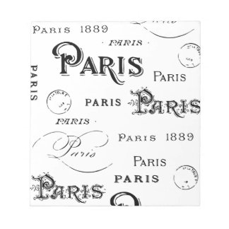Paris France Gifts and Souvenirs Notepad