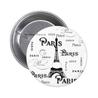 Paris France Gifts and Souvenirs Pinback Button