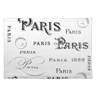 Paris France Gifts and Souvenirs Placemats