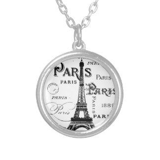 Paris France Gifts and Souvenirs Round Pendant Necklace