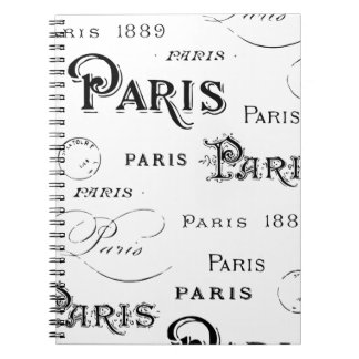 Paris France Gifts and Souvenirs Spiral Note Books