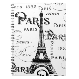 Paris France Gifts and Souvenirs Spiral Notebooks