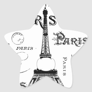 Paris France Gifts and Souvenirs Star Sticker