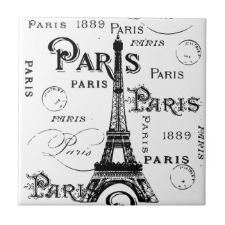 Paris France Gifts and Souvenirs Tile