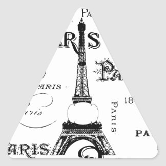 Paris France Gifts and Souvenirs Triangle Sticker