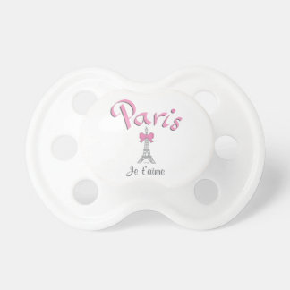 Paris, France I love you, Eiffel Tower Pacifier