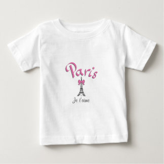 Paris, France Je t'aime Eiffel Tower Baby T-Shirt