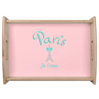 Paris,France Je T'aime Serving Tray