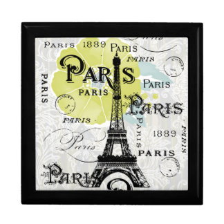 Paris France Keepsake Gifts and Souvenirs Jewelry Box