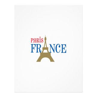PARIS FRANCE LETTERHEAD DESIGN