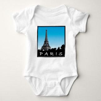 Paris france love french baguette eiffel more towe baby bodysuit
