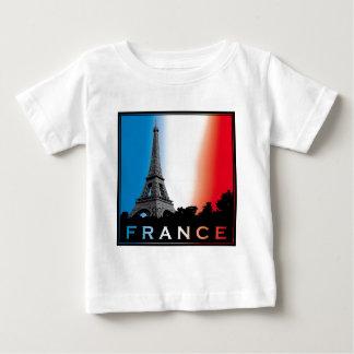 Paris france love french baguette eiffel more towe baby T-Shirt