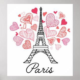 Paris, France Love Poster