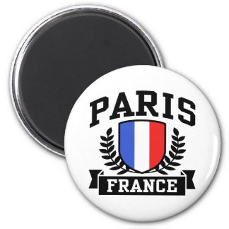 Paris France 2 Inch Round Magnet