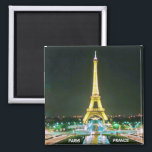 "PARIS, FRANCE MAGNET<br><div class=""desc"">EIFFEL TOWER...  A GUIDING LIGHT IN THE DARK OF NIGHT</div>"
