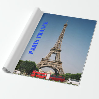 """Paris France Matte Wrapping Paper, 30"""" x 30' Wrapping Paper"""