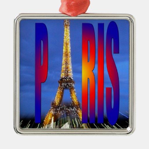 Paris France Metal Ornament