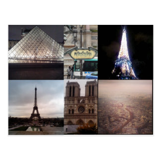 Paris France Multiview Postcard