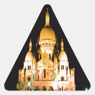 paris france night evening basilique du sacre coeu triangle sticker