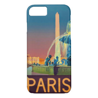 Paris France Night Fountain Obelisk iPhone 8/7 Case