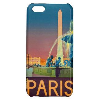 Paris France Night Fountain Obelisk iPhone 5C Cases