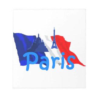 Paris France Note Pad
