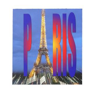 Paris France Memo Notepads