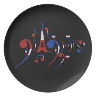 Paris France Plate