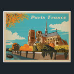 "Paris, France Postcard<br><div class=""desc"">Anderson Design Group is an award-winning illustration and design firm in Nashville,  Tennessee. Founder Joel Anderson directs a team of talented artists to create original poster art that looks like classic vintage advertising prints from the 1920s to the 1960s.</div>"
