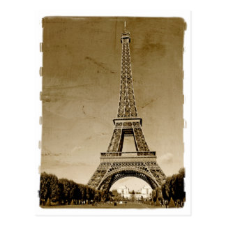 paris france retro postcard