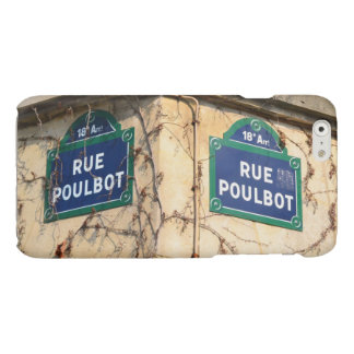Paris France Rue Poulbot Street signs Glossy iPhone 6 Case