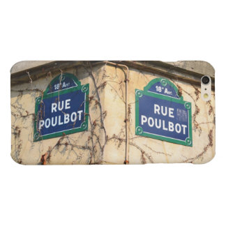 Paris France Rue Poulbot Street signs Glossy iPhone 6 Plus Case