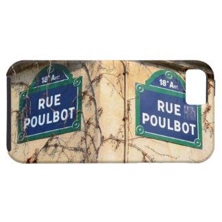 Paris France Rue Poulbot Street signs iPhone SE/5/5s Case